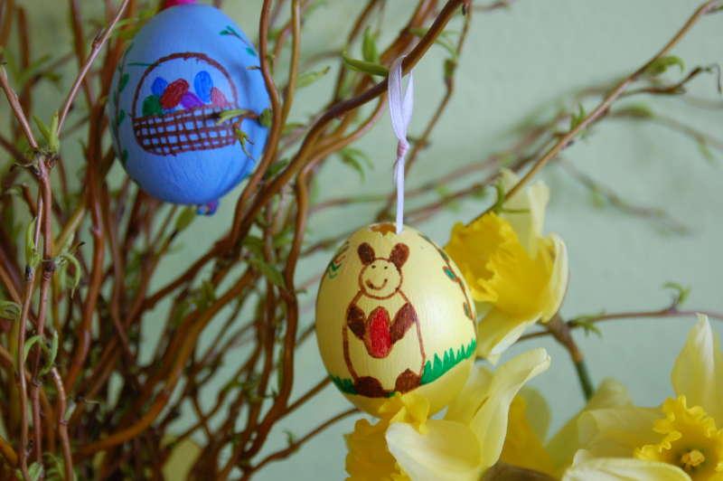 hotová nazdobená vajíčka