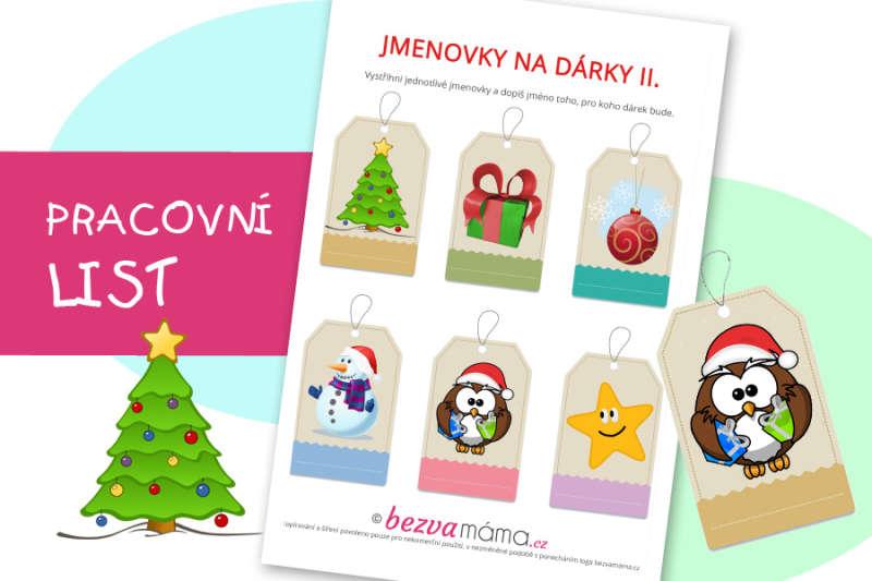 Vytiskněte si jmenovky na vánoční dárky II.