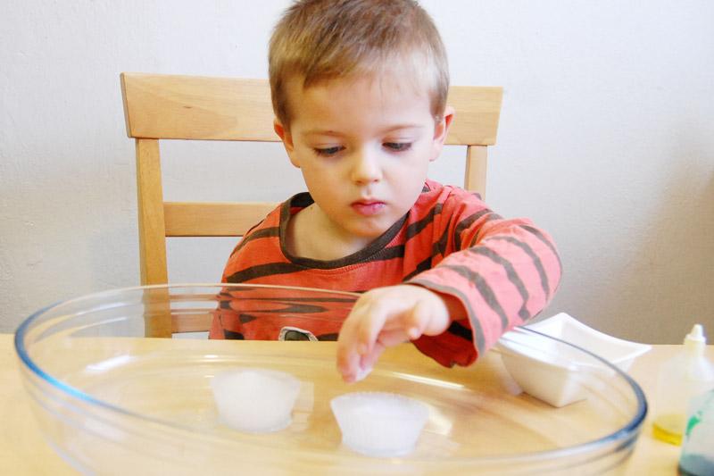 bábovky z ledu posypeme solí