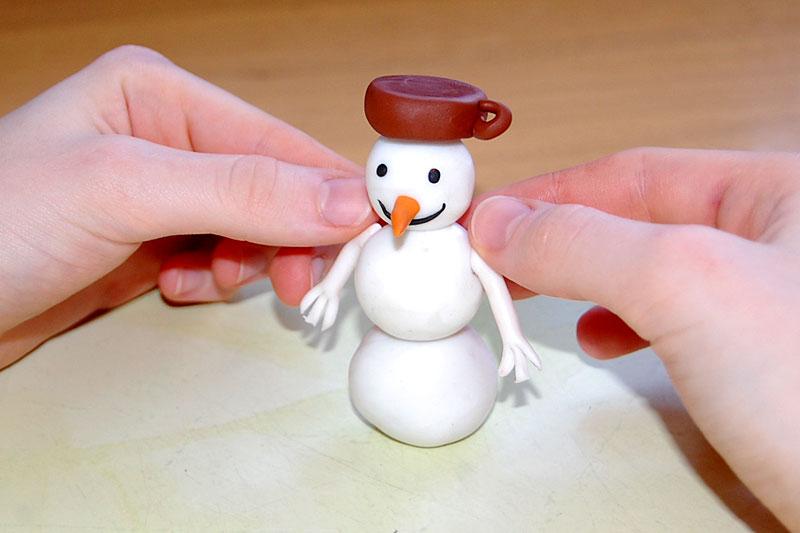 vymodelujeme sněhuláčka