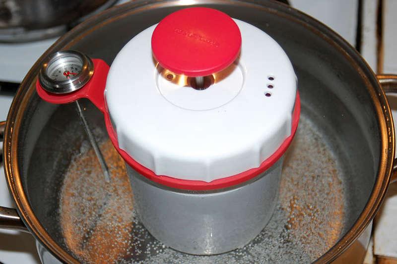 dusíme v šunkovaru na 80°C